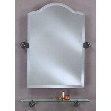 Scallop Frameless Top Bathroom Mirror