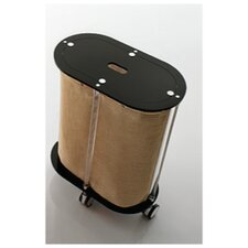 Oval Linen Cart with Jute Bag