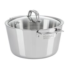 Contemporary 5.2 Qt. Stainless Steel Round Dutch Oven