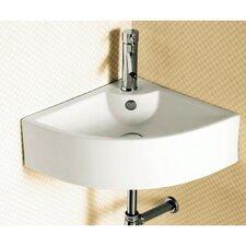 Ceramica Corner Vessel Bathroom Sink