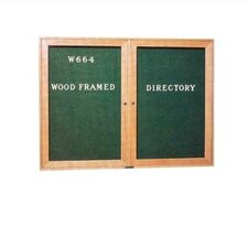 Wide Wood Framed Directory Wall Mounted Letter Board, 4' H x 3' W