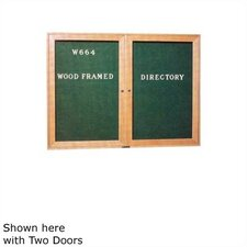 Wood Framed Directory Wall Mounted Letter Board, 3' H x 2' W