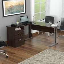 Curved Top Desk with Metal Legs