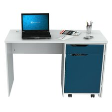 Computer Desk with Swing out Storage and 1 Drawer