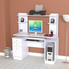 Laura Computer Desk with Hutch