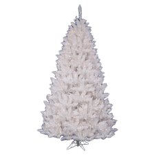 Crystal White Spruce 5.5' Artificial Christmas Tree with 450 Clear Lights with Stand