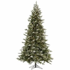 Frosted Balsam 7.5' Green Fir Artificial Christmas Tree with 750 Clear Lights