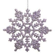 Glitter Snowflake Christmas Ornament (Set of 24)