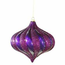 Swirl Glitter Christmas Ornament