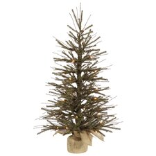 Vienna Twig 1.5' Green Artificial Christmas Tree with 20 Clear Lights