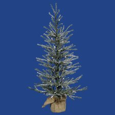 2.5' Frosted Angel Pine Artificial Christmas Tree with Clear Lights