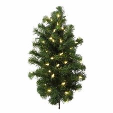 Douglas Fir 2' Green Fir Artificial Christmas Tree with 50 LED White Lights with Stand