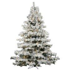 12' Flocked Alaskan Christmas Tree with 2050 LED Warm White Lights
