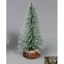 Village Flocked 1.5' Green Artificial Christmas Tree with Unlit