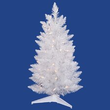 Sparkle 5' White Spruce Artificial Christmas Tree with 150 LED White Lights with Stand