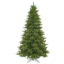 Camdon Fir 9' Green Artificial Christmas Tree with 990 LED Warm White Lights with Stand