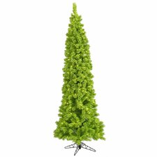 7.5' Flocked Lime Pine Artificial Christmas Tree with 300 LED Lime Lights
