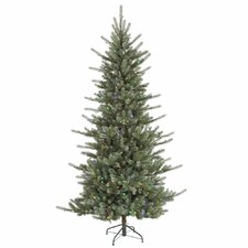 Colorado Spruce 5.5' Green Artificial Christmas Tree with 400 LED Multi-Colored Lights with Stand
