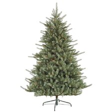 Colorado Spruce 7.5' Green Artificial Christmas Tree with 700 Dura-Lit Multi-Colored Lights with Stand