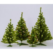 Canadian 2' Green Artificial Christmas Tree with 35 Lights with Stand