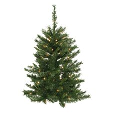 3' Imperial Pine Wall Christmas Tree with 50 LED Warm White Lights