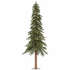 Natural Alpine 8' Green Artificial Christmas Tree with 500 Clear Lights