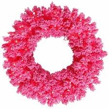 "Flocked Pine 24"" Pre-Lit Wreath"
