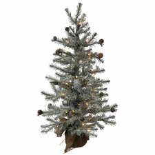 Frosted Pistol 2' Silver Artificial Christmas Tree