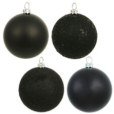 Christmas Ball Ornament with Cap (Set of 18)