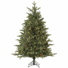 Rocky Mountain 4.5' Green Fir Artificial Christmas Tree with 200 LED White Lights