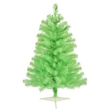 Chartreuse 3' Green Artificial Christmas Tree with 50 Single Colored Light