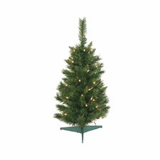 2.5' Imperial Pine Artificial Christmas Tree with Clear Lights