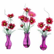 3 Piece  Floral Arrangement Set