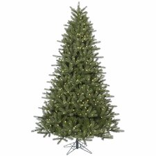 Kennedy 7.5' Green Fir Artificial Christmas Tree with 650 LED White Lights with Stand