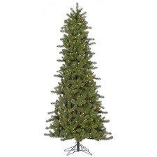 6.5' Ontario Slim Spruce Christmas Tree with 400 LED Clear Dura-Lit Lights with Stand