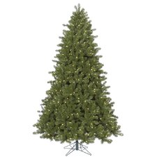 7.5' Ontario Spruce Artificial Christmas Tree with 750 LED Warm White Lights with Stand