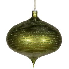 Onion Matte-Glitter Christmas Ornament