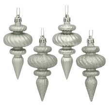 Finial Assorted Christmas Ornament (Set of 8)