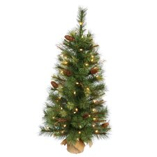 Caribou 3' Pine Tree Artificial Christmas Tree with 70 Clear Light
