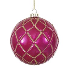 Candy Glitter Net Ball Christmas Ornament (Set of 6)