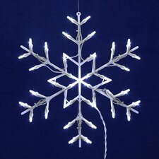 Lighted Snowflake Christmas Window Silhouette Decoration