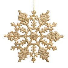 Snowflakes Glitter Christmas Christmas Ornament (Set of 12)