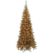 6.5' Antique Champagne Fir Artificial Christmas Tree with 400 LED Clear Lights