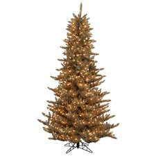 4.5' Antique Champagne Fir Christmas Tree with 525 LED Clear Lights