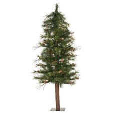 Mixed Country Alpine 6' Green Artificial Christmas Tree with Unlit with Stand