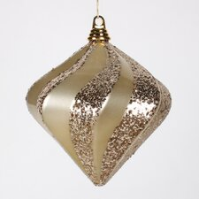 Candy Glitter Swirl Diamond Ornament