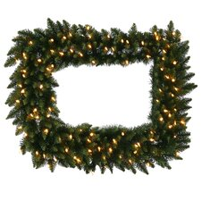 """36"""" Lighted Artificial Camdon Fir Christmas Wreath"""