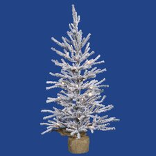 Flocked Angel 2' Pine Artificial Christmas Tree