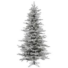 7.5' Flocked Slim Sierra Christmas Tree