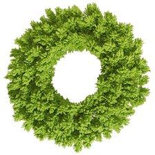 Flocked Fir Wreath